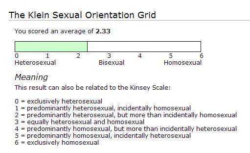 Klein sexual orientation grid results